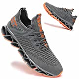 Vooncosir Mens Running Shoes Comfortable Fashion Non Slip Blade Sneakers Work Tennis Walking Sport Athletic Trainers
