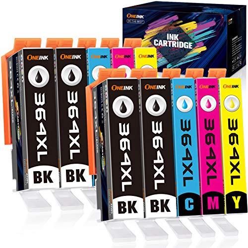 ONEINK 364XL - Cartuchos de tinta para HP 364 XL (compatible con HP Photosmart 5510, 5515, 5520, 6510, 6520, 6515, 7510, HP Deskjet 3070A y HP OfficeJet 4620 (4 negro, 2 cian, 2 magenta y 2 amarillo)