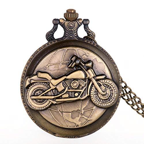 URNOFHW Colgante, Collar de Reloj de Bolsillo de Bronce significativo Mujeres de los Hombres del Reloj for el Personal Oficial Hora