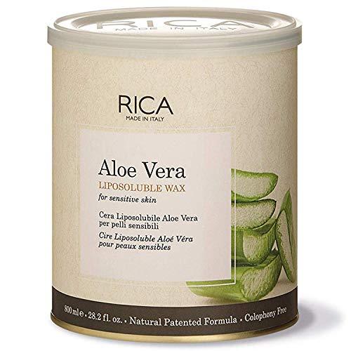 Rica Aloe Vera Liposoluble Wax for Women's Sensitive Skin (800 mle, 28. 2Fl. Oz)