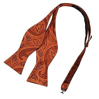 Silk Wedding Self-Tied Bowties Clip-On Adjustable Orange Self Tie Bowtie Nursing Cow EBA2B04C Epoint Patterned Orange,Black