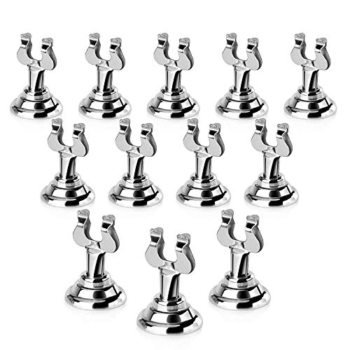 New Star Foodservice 23428 Harp Style Place Card / Table Number Holder, 1.5 inch, Silver, Set of 12
