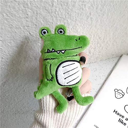 Earphone wekker kikker dinosaurus pop voor Apple Airpods 2 Caso Grappige gehoorbescherming Cartoon Veiligheidscases Silicone voor Airpods 1 caso QWERTB
