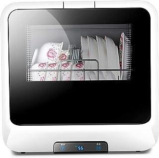 DWLXSH Completa portátil encimera lavavajillas, Acero Inoxidable Escritorio Lavavajillas automático con función de Secado y enfriamiento, bajo Ruido Ventana Visible Transparente