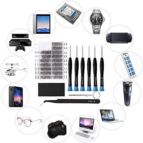 Eyeglasses Repair Kit, HKIDEE Sunglasses Repair Kit with 1000PCS Eyeglass Screws and 6 Pcs Screwdrivers Tweezer for Glasses, Sunglass, Watch Clock Spectacle Repair