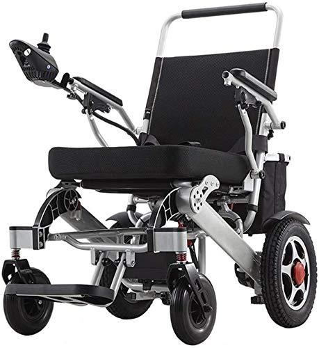 MLL Zusammenklappbarer tragbarer Elektrorollstuhl Leichter Trage-Elektrorollstuhl-Roller, 24 V 20-Ah-Li-Ionen-Batterie 250 W * 2 Elektromotorischer Rollstuhl mit Zwei Motoren