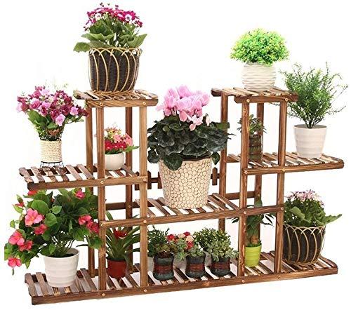 SJB Multi-pisos Floral/planta/estante de madera para el jardín al aire libre Estantes de jardín/estantes de madera Estante de madera para almacenamiento en el jardín casero