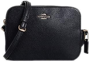 Coach Pebble Leather Mini Camera Crossbody Shoulder Bag, Black