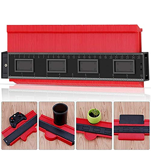 Makerfire Calibro di Contorno di Plastica 10/ 250mm Replicatore di Contorno Contour Duplicator Gauge per Condotti Tubi Circolari Strumento