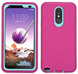 LG Stylo 3 Case, Heavy Duty Shockproof Full-Body Protective Hybrid Case with Swivel Belt Clip and Built-in Screen Protector for LG Stylo 3 / LG Stylo 3 Plus (Pink)