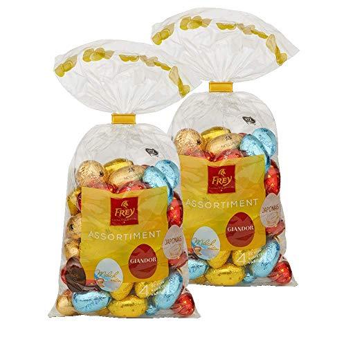 Frey Schokoladeneier 'Eili Mix' 2 x 500g - Gefüllte Ostereier aus Schokolade im Mischbeutel - UTZ-zertifizierte Schweizer Schokolade - Osterschokolade, Ostergeschenk, Schokoladengeschenk, Osterdeko