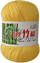 Ouniman Natural Bamboo Cotton Yarn Wool,12 Colors Soft&Warm Chunky Yarn DIY Hand Knitting Weaving for Scarf Hats Sweater Crochet Thread Supplies Baby Clothes Garments -Assorted Colors,50g (D)