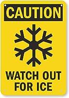 安全標識-注意-Ice.インチ金属錫標識通知警告標識に注意してください