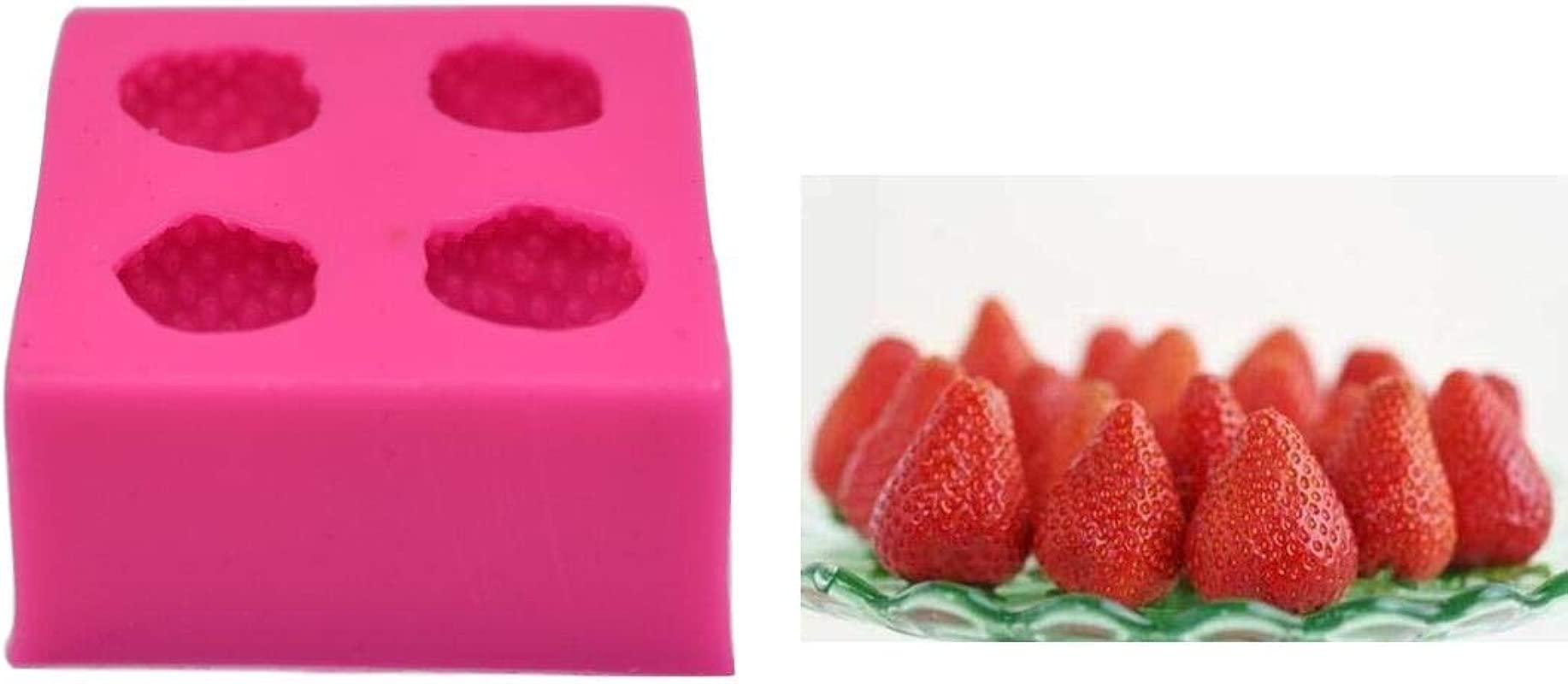 3D Strawberry Silicone Mold Fondant Cake Mold Chocolate Mold Cake Decoration