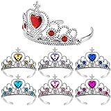 REYOK 7 Piezas Corona de Princesa Corona de Tiara Vestir Chicas Tiara Juguete Decoración de Diamantes de Imitación Vestirse Princesa Corona para la Fiesta