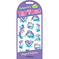 Peaceable Kingdom Magical Dolphins Temporary Tattoos