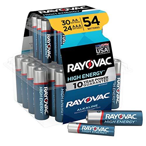 Rayovac AA Batteries & AAA Batteries Combo Pack, 30 AA and 24 AAA (54 Battery Count)