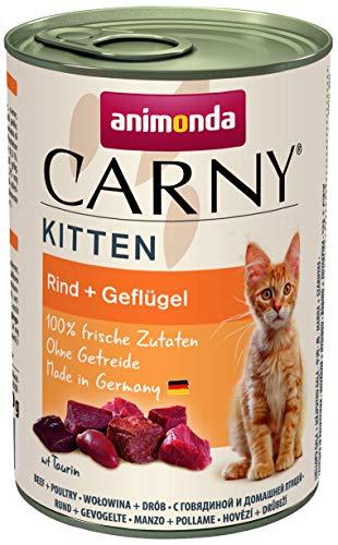Animonda Carny Kitten Kattenvoer, Vochtige Voering, Katten Tot 1 Jaar, 6 X 400 G