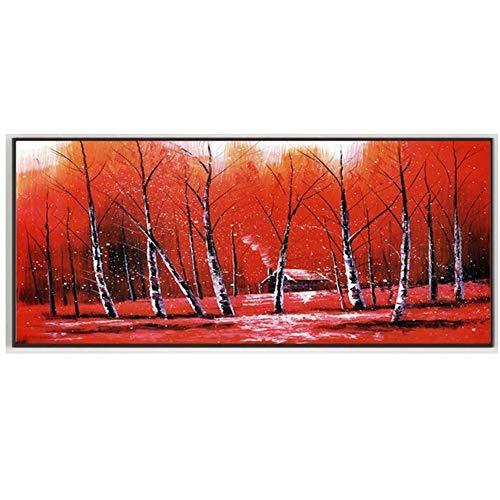 Jin Yi Global Muurkunst Poster Canvasafbeeldingen en prints Scandinavische afbeeldingen Decoratie Schilderij Kleurrijke Bomen Planten Restaurant Kamer-40x120cm Geen lijst