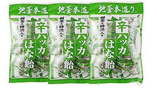 【柿渋】井関食品 甜茶と柿渋入り辛ハッカはな飴 120g x3