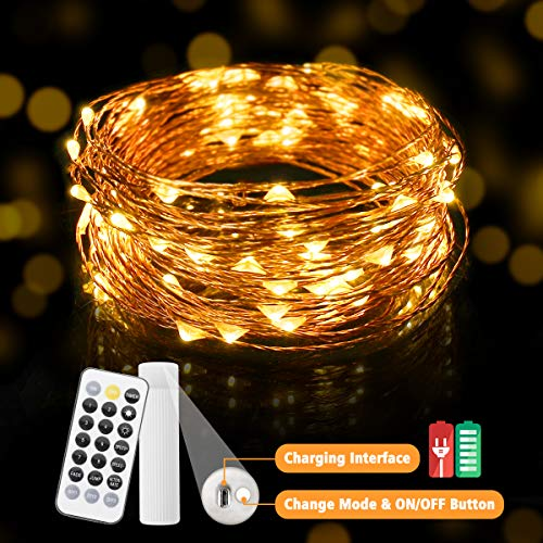 Batterie /& Timer oder Solar LED Lichterkette 50//100 LEDs für Innen und Außen