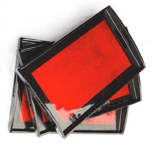 Red Lacquer tray - 11x16 Vietnamese Lacquerware TR1