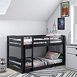 Dorel Living Phoenix, Black Twin Bunk Bed, Twin over Twin