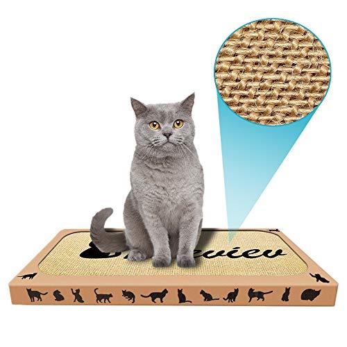 Pieviev Griffoir pour Chat en sisal avec Herbe à Chat 44,5 x 25,9 x...