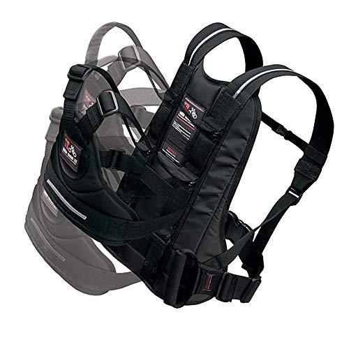 RekoTandem Bambini Moto Cintura di Sicurezza con Maniglione Materiale Riflettente, Nero