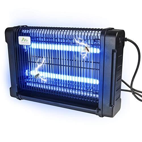 Gardigo Profi - Lámpara UV contra Mosquitos, Moscas, sin químicos, para Oficina y Cocina, Color Plateado y Negro