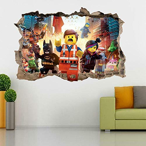 Wandtattoo Movie characters 3D Smashed Wall Sticker Decal Decor Boys Girls Bedroom Art
