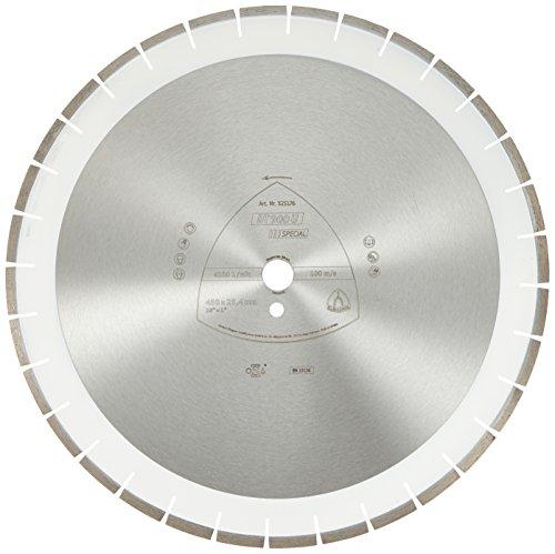 Klingspor 325176 Discos de Corte Diamantados para Tronzadoras Motorizadas/Cortadura de Juntas/Sierras de Mesa, DT 900 U, 450 mm x 25.4 mm, 4300 RPM, 32 mm/40 mm/3.6 mm/10 mm Segmentos