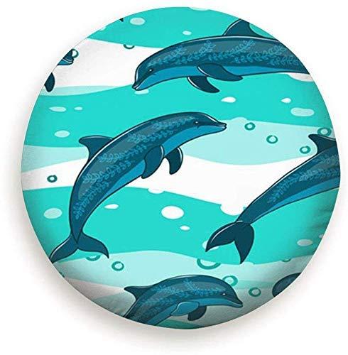 Reifendecke Herde Delfine Meerestiere Wildlife Delfin Polyester Universal Reserverad Reifendecke Radabdeckungen für Rv SUV LKW Reisemobil Wohnwagen Zubehör