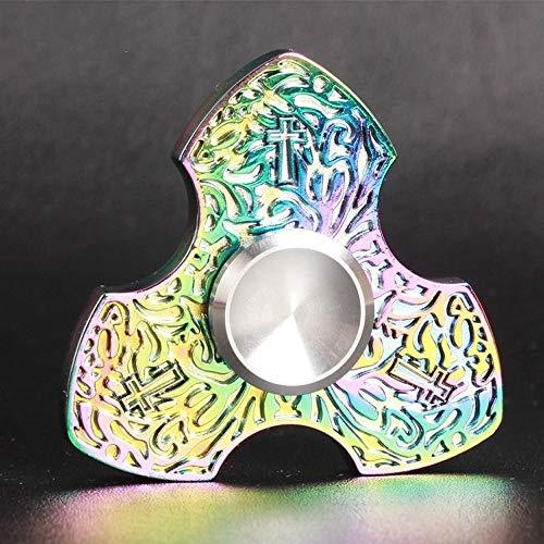 ELECTRON Dedo de la yema del Dedo Top Titanio de aleación de Juguetes for Adultos Spinner Guardia Sagrada Regalo Novia Novio Regalo (Color : Purple)