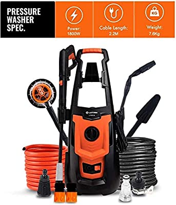 Indoor and Outdoor Cleaning Tools Mop Garden High Pressure Washer, 1800W 140Bar Electric Portable Light Power Washer with Accessories, Car/Patio/Washing Machine. dljyy by dljxx