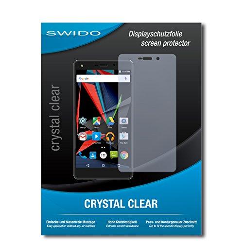 SWIDO Schutzfolie für Archos Diamond 2 Plus [2 Stück] Kristall-Klar, Hoher Festigkeitgrad, Schutz vor Öl, Staub & Kratzer/Glasfolie, Bildschirmschutz, Bildschirmschutzfolie, Panzerglas-Folie