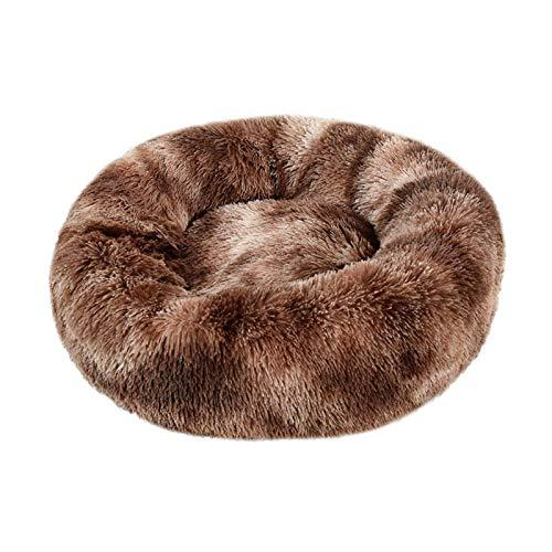 Nido Mascotas Costura Color Redonda Cama Mascotas Estera Antideslizante Nido Felpa Mullida Dormir Profundo Gatos Perros Estera Cálida Invierno Gatos Área Descanso Mascotas El Interior,#10-120cm