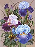Koikify 5D Diamond Painting Kits for Adults, Full Round Drill Flower Painting 5D Cross Stitch Arts Resin Diamond Picture Beads Pasted Craft DIY Painting for Home WallDecor, Gift 11.8 x 15.7 Inch