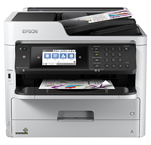 Epson WorkForce Pro WF-C5710DWF 4-in-1 Tintenstrahl-Multifunktionsgerät (Druck, Scan, Kopie, Fax, WiFi, Ethernet, Duplex, 250 Blatt Kassette, Einzelpatronen, 4 Farben, DIN A4)