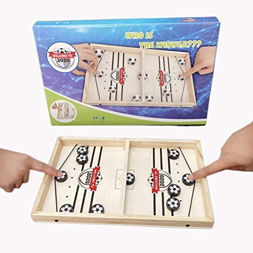Mgsiko Table Hockey Toys, Board Game Hockey, Interactive Parent-Child Interaction Catapult Board Game Table Hockey Wood, Quick Sling Puck Match Game Portable Chess Board Set