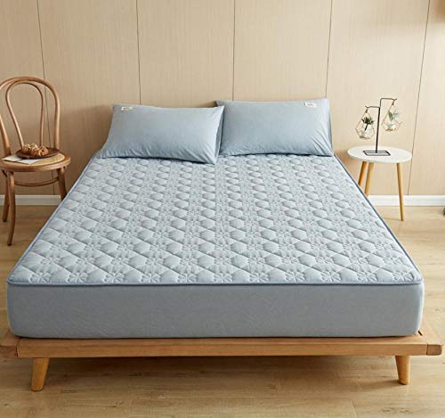 Funda de colchón tamaño queen,funda de colchón transpirable con ajuste acolchado con clip que se puede estirar hasta 30 cm funda de protección media para colchón de algodón profundo-D_90x200+30cm