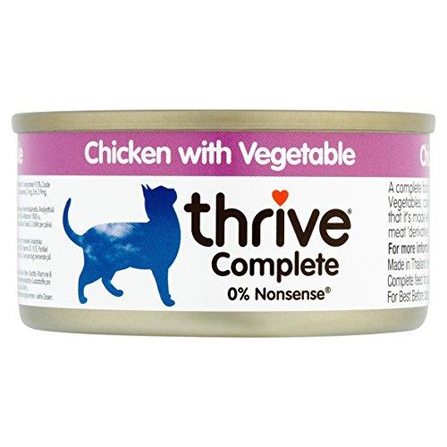 thrive Alleinfutter für Katzen mit Huhn mit Gemüse (12 x 75 g) – 900 g