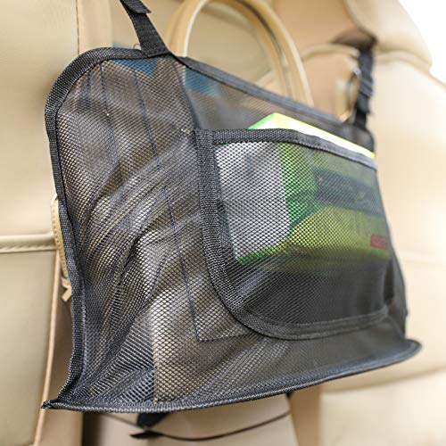 Car Net Pocket Handbag Holder Seat Back Organizer Fit Most of Car Purse Pocket Driver Seat Storage Bag For Cars Car Net Pocket Organizer For Phone Document Car Purse PouchBarrier ofBackseat Pet Kids