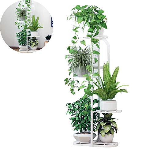 YOGANHJAT Metal Plant Stand Flower Holder Racks Plant 4 Tier Stand Stool Flower Stool Shelf Outdoor Plant Stand for Balcony Indoor Outdoor Areas Flower Bench,White