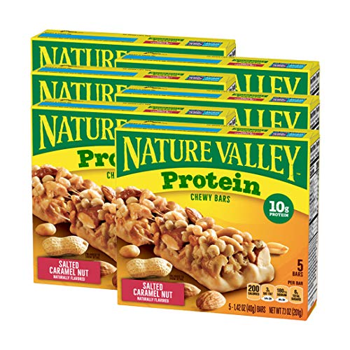 Nature Valley Protein Chewy Bar Gluten Free Salted Caramel Nut,1.42 Ounce...