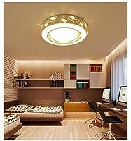 PLLP 装飾シャンデリア、天井ランプ、55 CmクリスタルLedダイニングルームランプ、丸いリビングルームランプ、モダンなミニマリストの家の天井ランプ、研究寝室のランプ、三色調光,無段階調光