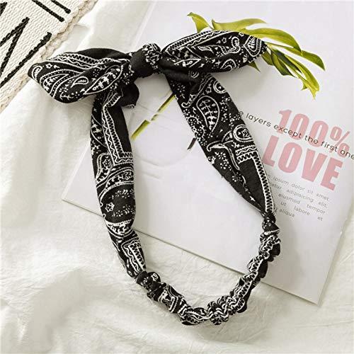 BAJSKD Bandeau pour Femmes Vintage Cross Hairband Bandeau élastique Bowsfrauen Stirnband