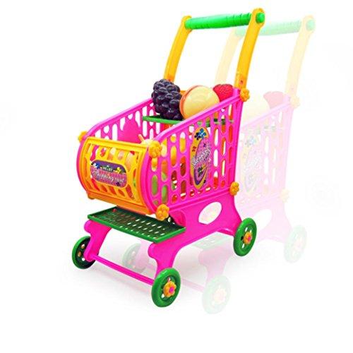 Fulltime®Simulation d'enfants Shopping Cart légumes Fruits aliments jeu jouets