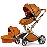 Product Image of the Baby Stroller 2018, Hot Mom Baby Carriage with Bassinet Combo,Brown