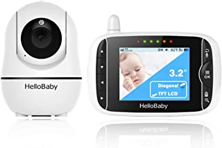 2020 Upgraded Baby Monitor,HelloBaby Remote Pan-Tilt-Zoom Baby Monitor with Camera and Audio,Night Version & Temperature S...